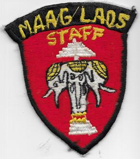 Vietnam Era MAAG Laos Staff Pocket Patch