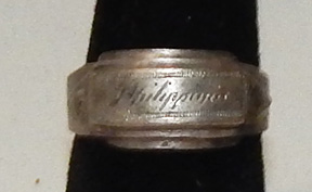 WWII Philippines Trench Art Ring