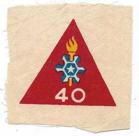 ARVN / South Vietnamese Army 40th Psychological Warfare Battalion Patch