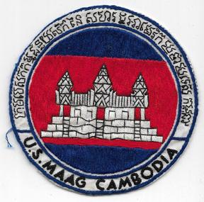 Vietnam US MAAG Cambodia Oversized Pocket Patch