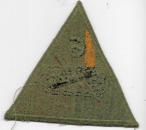 WWII 6th Armor Division Greenback Patch