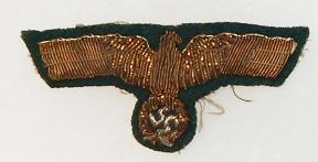 WWII German Army Generals Bullion Breast Eagle