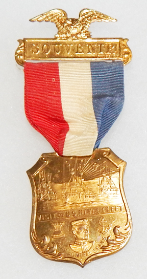 1908 Great White Fleet Adm Evans Souvenir Medal / Badge