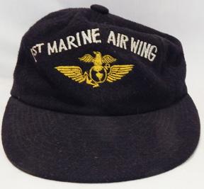 Vietnam Era 1st Marine Air Wing Japanese Made Wool Ball Cap