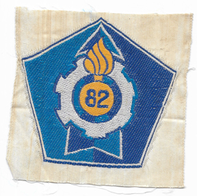 ARVN / South Vietnamese Army 82nd Ordnance Directorate Patch