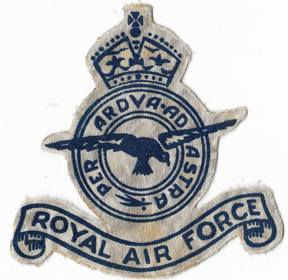 WWII Royal Air Force Flocked Patch