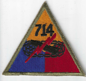 WWII 714th Tank Battalion Patch
