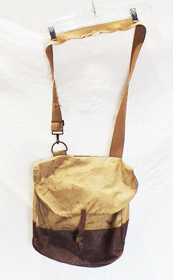 American Red Cross Named Leather Trim Musette Bag