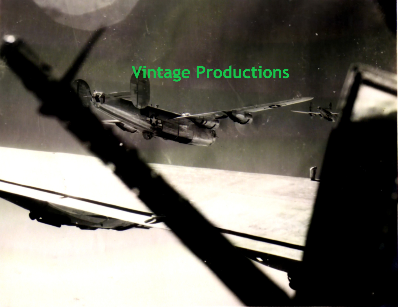 B-24 Bombers Flying Photo