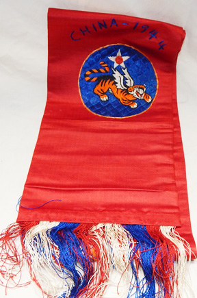 Incredible WWII 14th Air Force Chinese Made Silk Scarf