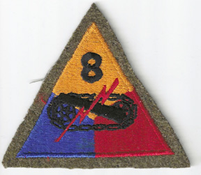 Pre-WWII 8th Armor Division WOOLIE Patch
