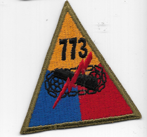 WWII 773rd Tank / Tank Destroyer Battalion Patch