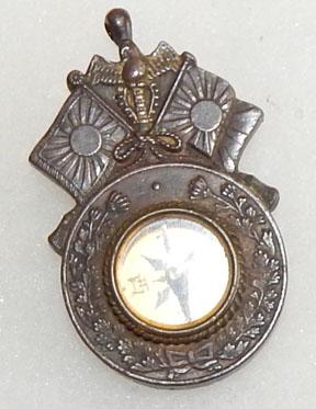 Japanese Meiji Era Veterans One Year Anniversary Of Russo Japanese War Compass Badge