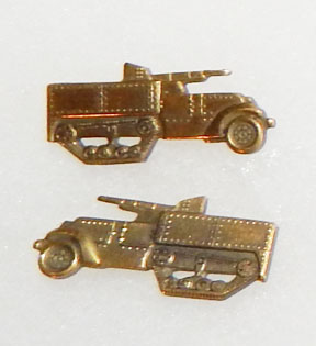 WWII Tank Destroyer Officers Matched Collar Device Set