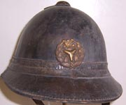 1920's-1930's Japanese Home Front Leather Fire Department Helmet