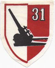 3rd Division 31st Artillery Patch SVN ARVN