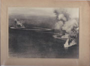 WWII Japanese Propaganda Photo Of Battle Of Indonesia / Java Sea