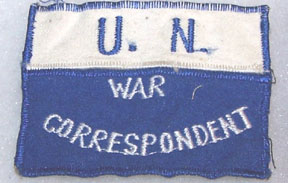 United Nations War Correspondent Patch