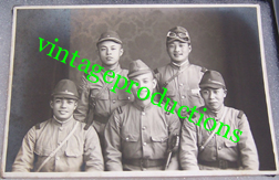 WWII Era Japanese Army Drivers Group Photo