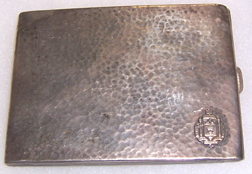 1921 USNA Named Sterling Cigartette Case