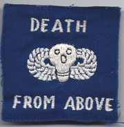 Vietnam Command Control Central Oversized Pocket PatchDeath From Above Winged Skull Patch