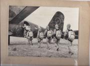 WWII Japanese Propaganda Photo Of Paratroopers Loading Plane