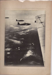 WWII Japanese Propaganda Photo Of Airplanes Heading To Palembang