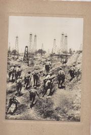 WWII Japanese Propaganda Photo Of Captured Enemy Oil Wells