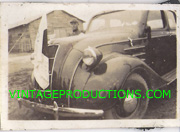 WWII Japanese Army Vehicle With Signed Flag Attached To Grill Photo