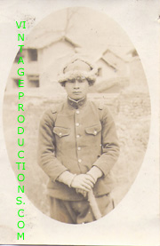 WWII Japanese China Front Army Officer Holding Sword Photo
