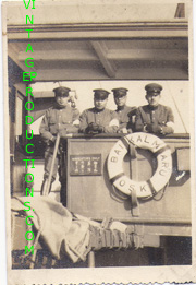 WWII Japanese Army Soldiers on transport ship Photo