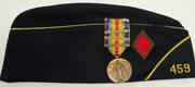 5th Division Veterans Hat & Three Bar Victory Medal