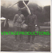 WWII Japanese Army Officers With Swords In Front Of Airplane Photo