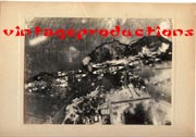 WWII Japanese Propaganda Photo Of Pearl Harbor Attack.