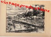 WWII Japanese Propaganda Photo Of Pearl Harbor Attack.