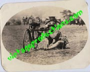 Japanese Army Bicycle Mounted Machine Gun Photo