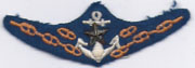 Japanese Army Landing Craft Operators Wing / Badge