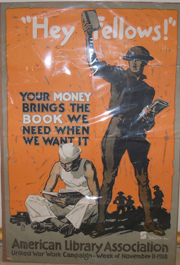 American Library Association WWI United War Work Campaign Week Poster