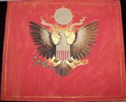 76th Company Coastal Artillery Hand Painted Folk Art Flag