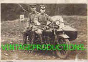 Early WWII Japanese Army Soldiers On Motorcycle With Sidecar Photo