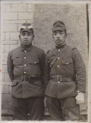 WWII Japanese Army Officer & NCO Photo