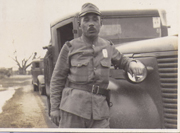 WWII EraJapanese  Army Truck Driver Photo