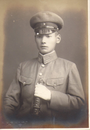 WWII Japanese Army Officer Holding Sword Photo