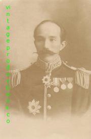 Meiji Era Japanese Army High Ranking Officer In Full Dress Uniform Photo