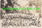 WWII Japanese Army Unit Posing In Front Of Giant Buddha In Kamakura Photo.