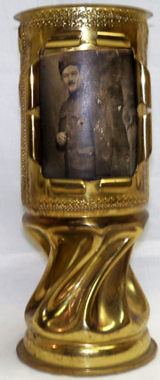 115th Engineer Co. Trench Art Shell Vase