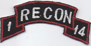 1st Battalion 14th Infantry RECON Scroll  Vietnam