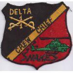 D Troop 1st Squadron 1st Cavalry SNAKES  Pocket Patch Vietnam