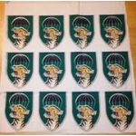 Vietnam Camp Strike Force Uncut Sheet Of Twelve Patches