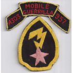 Vietnam Det B-55 5th Mike Force Installation PassDetachment A-303 Mobile Guerilla Force 957 Patch
